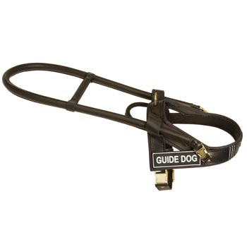 Dog Guid Harness Leather for Dog Assistance