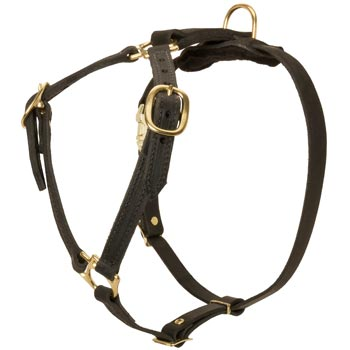 Leather Dog Harness Light Weight Y-Shaped for Tracking Dog