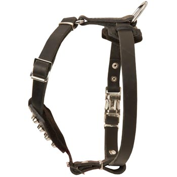 Leather Dog Puppy Harness for Comfy Walking